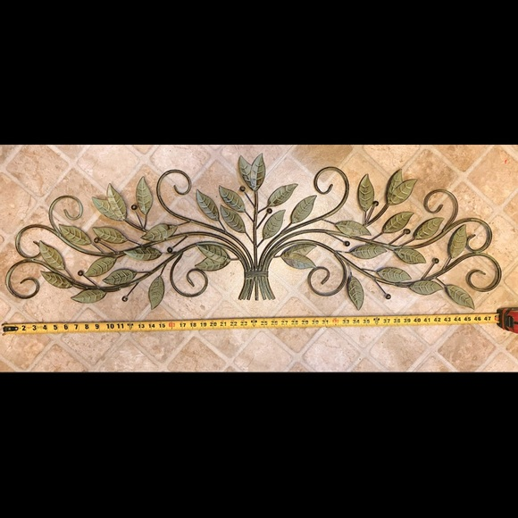 wall decor large metal floral 4ft